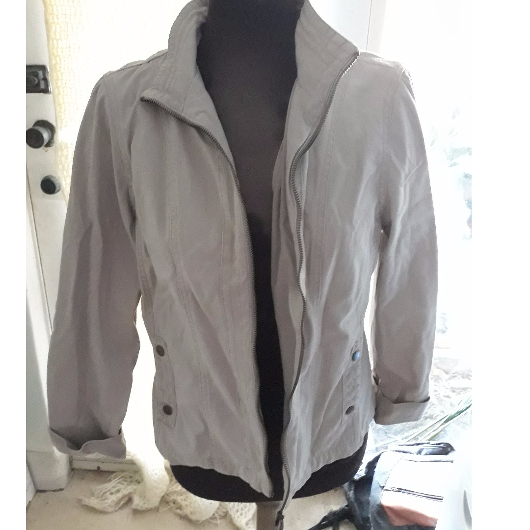 Rockman's Womens Canvas Jacket, Bone Size 14