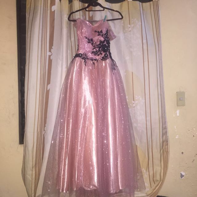 Rose Pink Prom Ball Gown (repost)