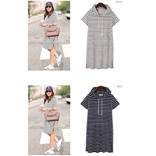 SALE! Hoodie stripes dress