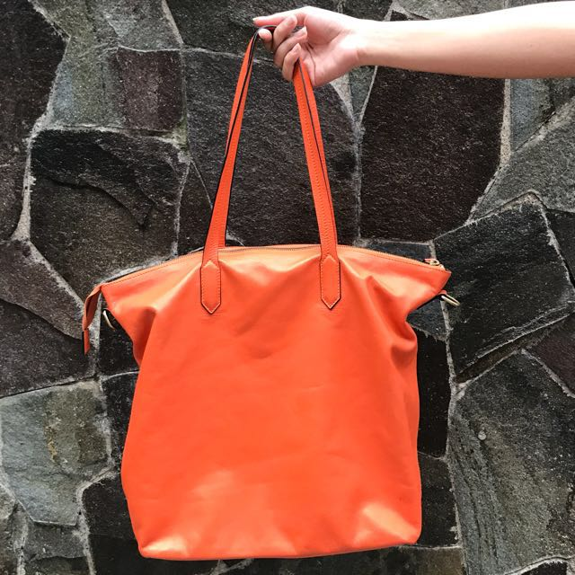 SALE!! Tas Kulit / Leather Bag Orange