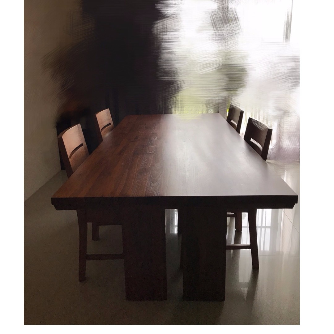 SCANTEAK 詩肯柚木 餐桌椅組合 四椅一桌