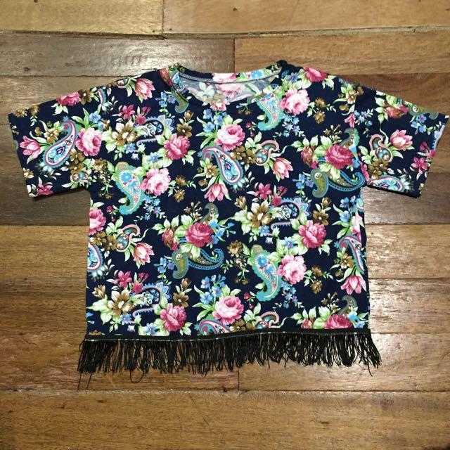 Semi Crop Top Shirt
