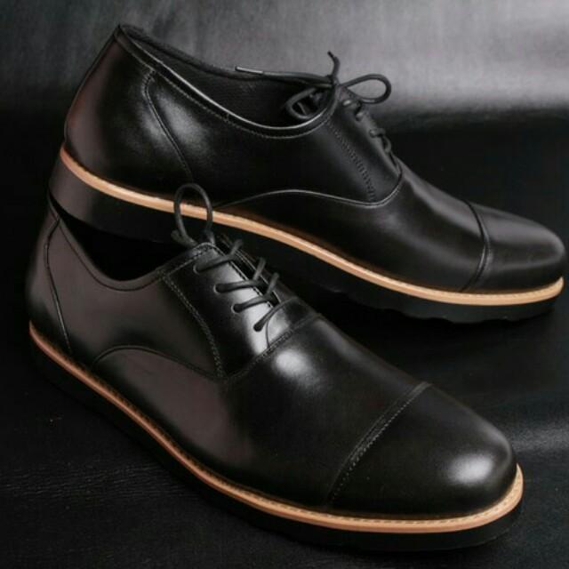 Sepatu pantofel pria sepatu kulit asli sepatu kerja Model Zico  (bally 6b5ef37afb