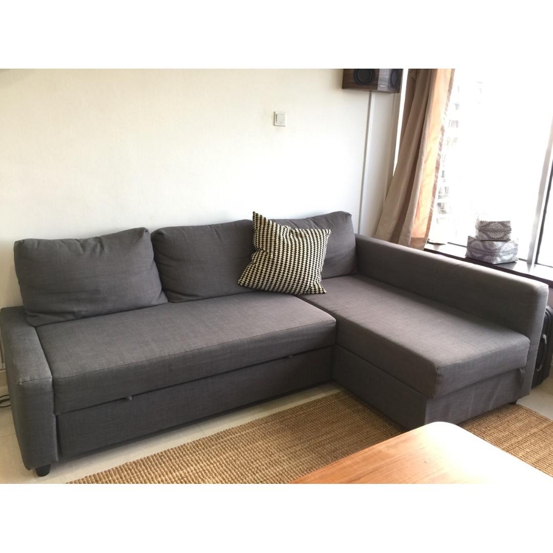 Sofa Bed Ikea Friheten Dark Grey Convertible With Storage