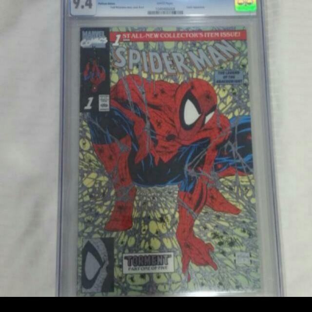 Spiderman #1, Platinum Edition, CGC 9.4