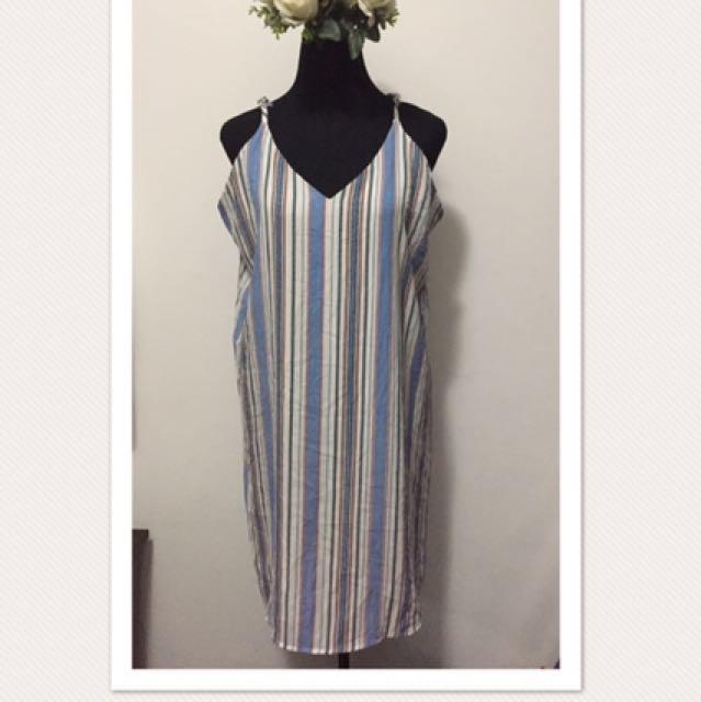 Stripe Korean Dress