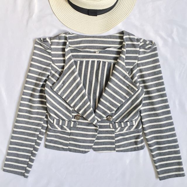 Stripes gray blazer