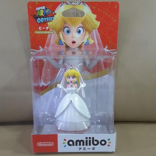 Super Mario Odyssey Princess Peach Wedding Outfit Amiibo Toys Games Bricks Figurines On Carousell