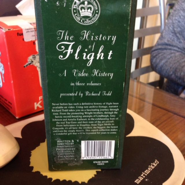 The history of flight video tape 3 pieces for 50.