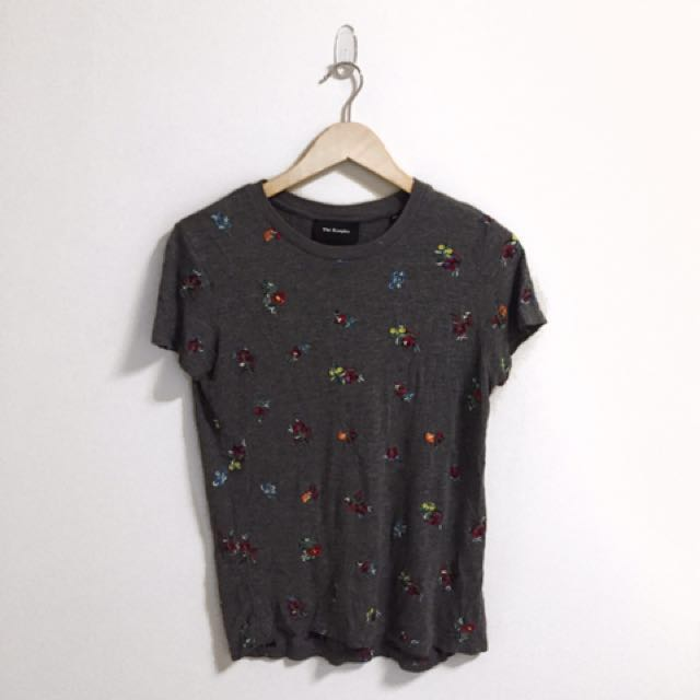 THE KOOPLES Grey Tee with Detailing