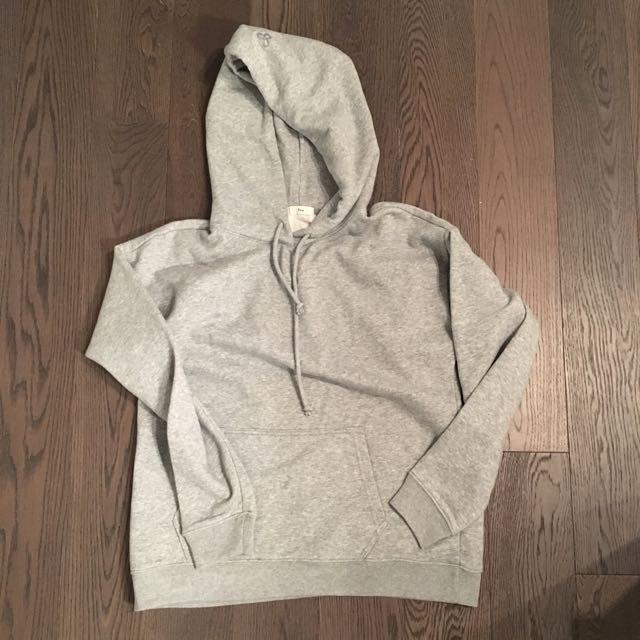 TNA plain grey oversized hoodie