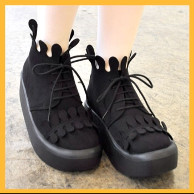 Tokyo bopper 🔥no888全黑麂皮厚底鞋