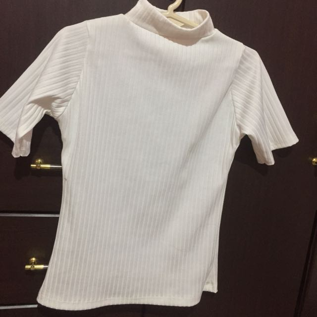 Turtle neck Ribbed Cotton