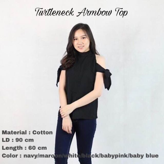 Turtleneck Armbow Top