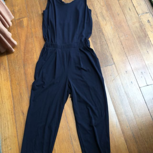 a656093a6620 Uniqlo jumpsuit in dark blue.