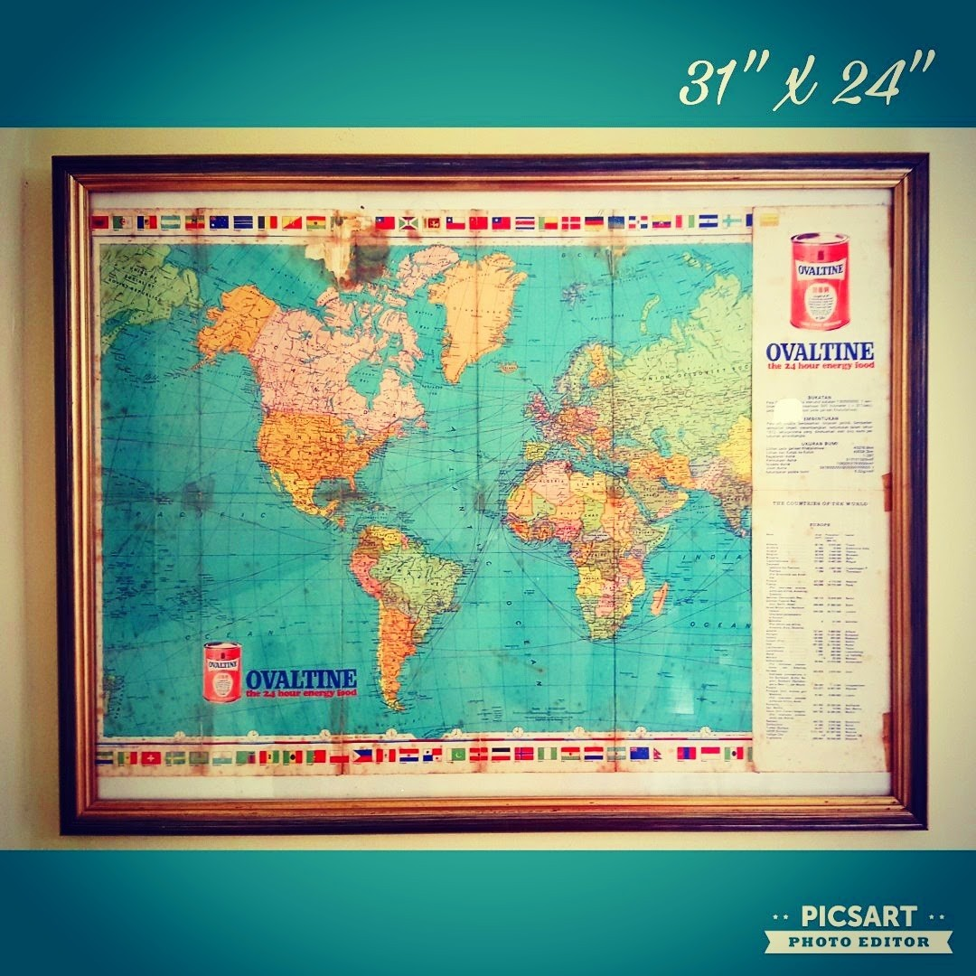Very rare 1950 60s ovaltine map in classic gold gilded wooden frame very rare 1950 60s ovaltine map in classic gold gilded wooden frame 88 sms 96337309 vintage collectibles vintage collectibles on carousell gumiabroncs Gallery