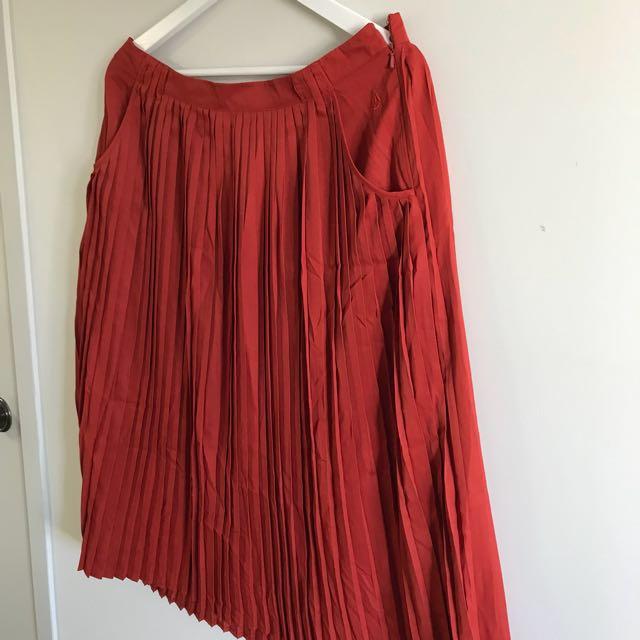 Volcom High Waisted Midi Skirt w/ pockets
