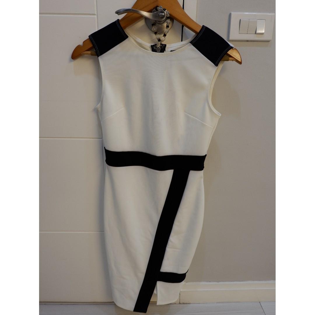 WHITE & BLACK smart casual dress