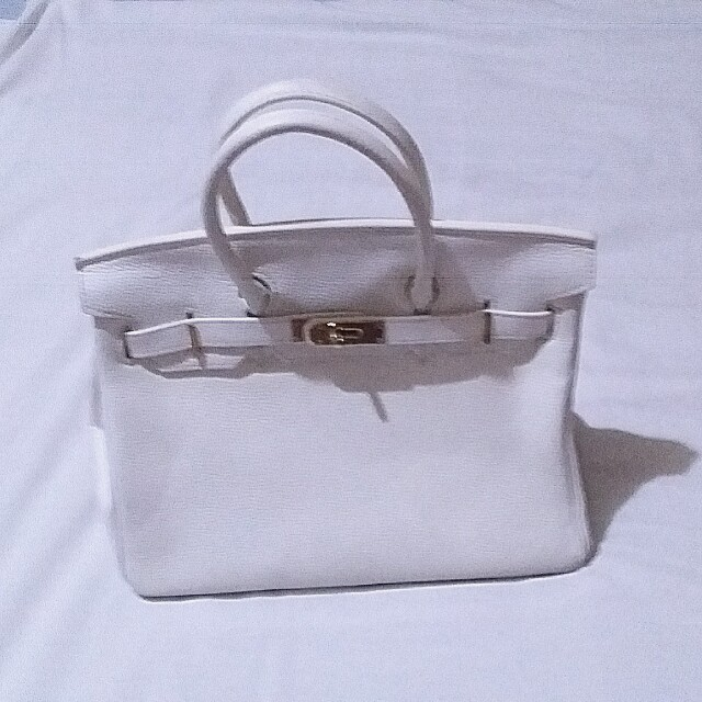 White Beachkin Leather Handbag