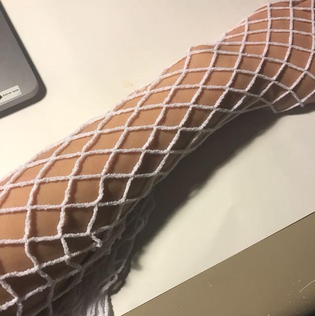 White Fishnet Stockings (ONE SIZE)
