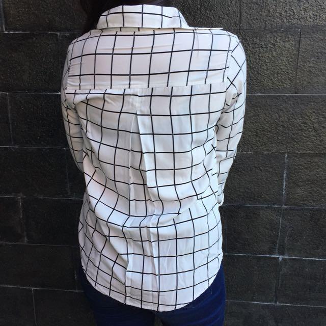 White square blouse