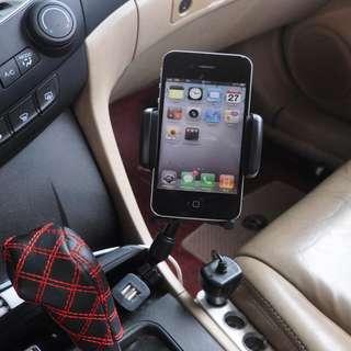 【#幫你省運費】新款 車載車充手機旋轉導航支架