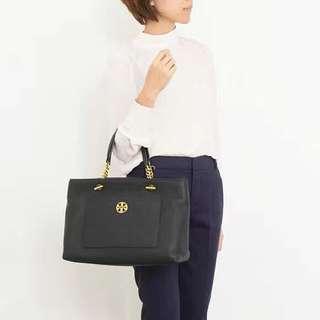 Tory burch Chelsea satchel 2用袋 可放A4, 黑 藍 棗紅 6折 歡迎預訂