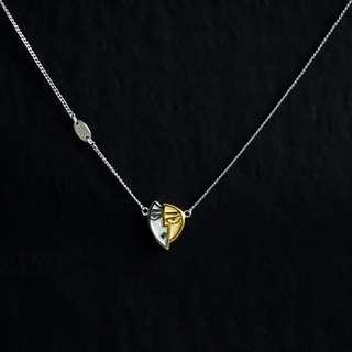 [U'NIDO] 原創手作 畢卡索系列-戴黃帽子的女人金銀雙色鎖骨項鍊/ S925/ 手工雕刻/ 暖心禮物/ 情人節禮物