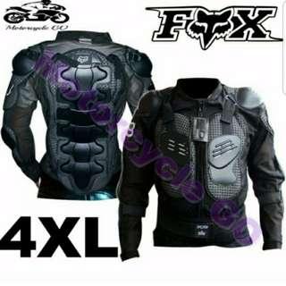 *RUSH BRAND NEW Motorbike Racing Gear Jacket Coat Motorcycle Body Armor Motocross Fox Back Protector XXXXL
