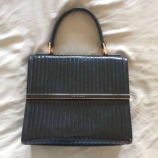 Ted Baker Black Patent Leather Bag