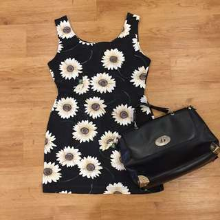 Vintage Floral Bodycon / Shift Dress