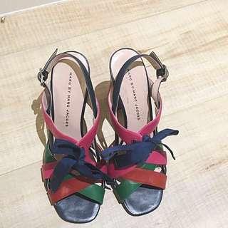 [降價]Marc Jacobs 時尚真皮高粗跟涼鞋 原價兩萬多台幣 37號