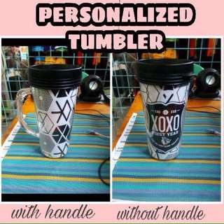 Personalized tumbler (cold laminated)
