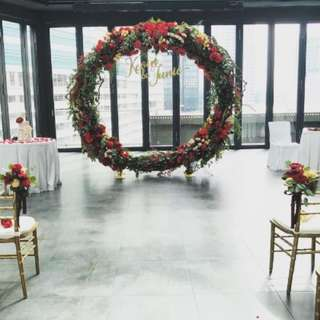 Wedding Solemization ROM Events new rounded arch
