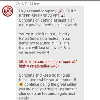 (8th) Thank You My Buyers And Co-sellers! Thanks Carousell!
