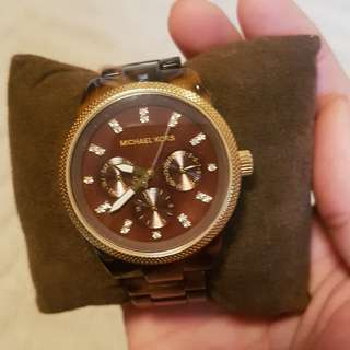 Michael kors tortoise watch womens