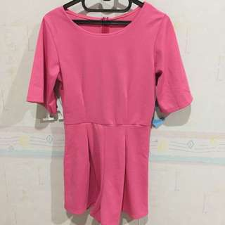 Jumpsuit Playsuit Pink Lucu Murah