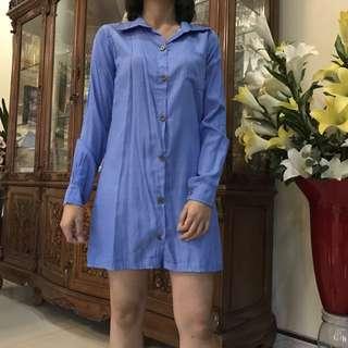 Shirt Dress No Brand (Dress Kemeja)