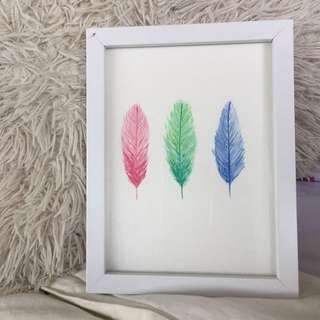 3 feathers (watercolour)