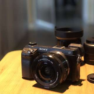 Sony NEX6 Camera with Kit lens Plus Sigma 30mm And 60mm ART