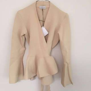 BRAND NEW NEVER WORN SCANLAN AND THEODORE CREPE KNIT WRAP JACKET