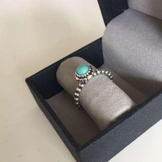 Pandora turquoise & silver ring