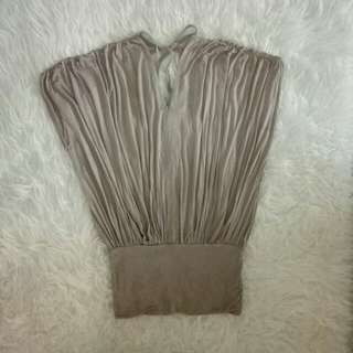 Soft knit top moccagrey (NEVER WEAR)