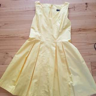 Cue yellow size 10 dress