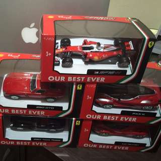 Ferrari toy car collection from Shell