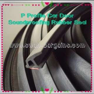 Universal P Type EPDM Car Doors Soundproof Insulation 3M Rubber Seal Water Proof Dust Proof
