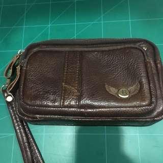 Used Genuine Leather Man Bag