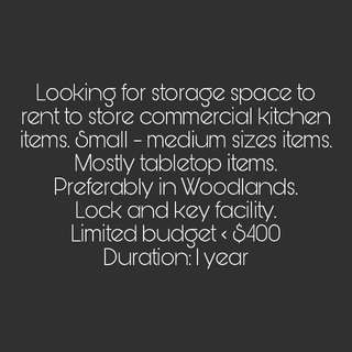 Looking For Storage Space For Rent
