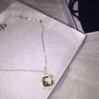 yellow sapphire necklace (faux, non rusting)
