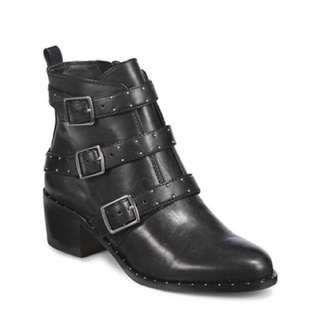 424 FIFTH Finn Studded Leather Ankle Boots